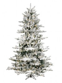 Aldik Home's Premium Artificial Christmas Trees - Flocked Arctic