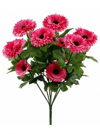 Aldik Home's Realistic Silk Flowers - Aster Mini Bush