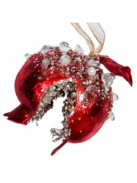 Aldik Home's Eclectic Christmas Ornaments - Dazzling Pomegranate