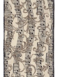 Aldik Home's Luxurious Ribbon - Linen Music Notes