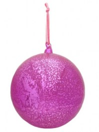 Aldik Home's Eclectic Christmas Ornaments - Glass Orn Hot Pink