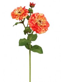 Aldik Home's Realistic Silk Flowers - Zinnia Natural Touch