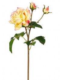 Aldik Home's Realistic Silk Flowers - Rose Sweet Juliet Natural Touch