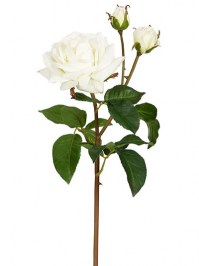 Aldik Home's Realistic Silk Flowers - Sweet Juliet Rose Natural Touch