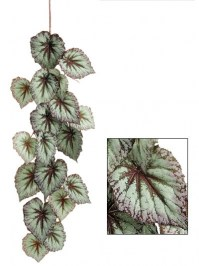 Aldik Home's Incredibly Realistic Silk Plants - Hanging Begonia Spray