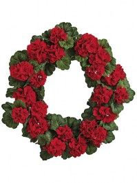 Aldik Home's Incredibly Realistic Silk Flowers - Geranium Wreath