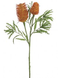 Aldik Home's Realistic Silk Flowers - Banksia Spray