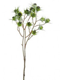 Aldik Home's Realistic Silk Flowers - Clematis Pod Spray