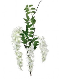 Aldik Home's Incredibly Realistic Silk Flowers - Wisteria Branch