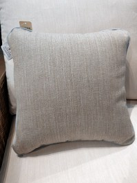Aldik Home's Luxurious Outdoor Throw Pillows - Adena Pewter w/ Welt