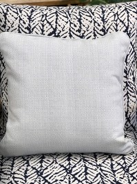 Aldik Home's Luxurious Outdoor Throw Pillows - Woven Chambray w/ Welt