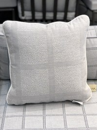 Aldik Home's Luxurious Outdoor Throw Pillows - Halton Gravel w/ Welt
