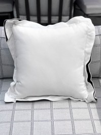 Aldik Home's Luxurious Outdoor Throw Pillows - Linen Snow