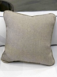 Aldik Home's Luxurious Outdoor Throw Pillows - Woven Sand w/ Welt