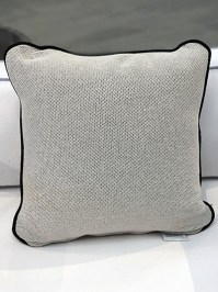 Aldik Home's Luxurious Outdoor Throw Pillows - Brighton Solid Snow w/ Welt