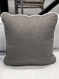 Aldik Home's Luxurious Outdoor Throw Pillows - Melange Linen Stone