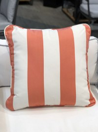 Aldik Home's Luxurious Outdoor Throw Pillows - Bistro Stripe Flamingo