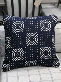 Aldik Home's Luxurious Outdoor Throw Pillows - Nara Indigo