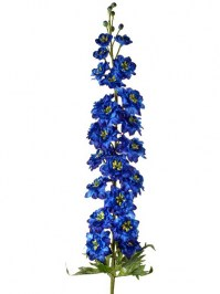 Aldik Home's Realistic Silk Flowers - Bloomsbury Delphinium 53 in.