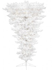 Aldik Home's Premium Artificial Christmas Trees - Flocked Newbury Upside Down Tree