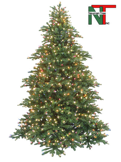 Aldik Home's Premium Artificial Christmas Trees - Windsor Noble (Soft Multi)